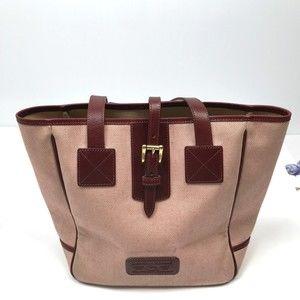 Dooney & Bourke Textile Leather Trim Shoulder Bag